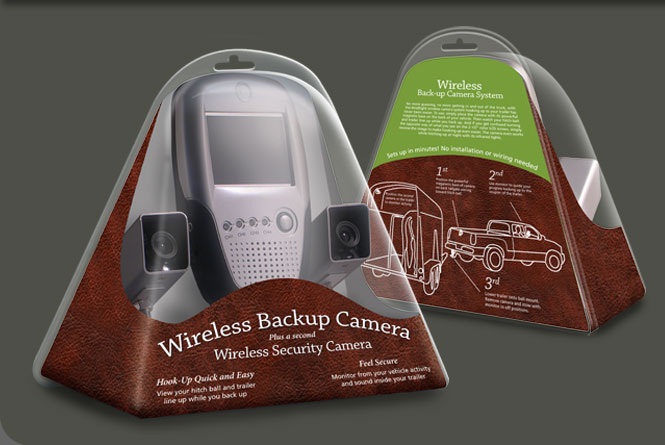 Consumer clamshell package concept and illustration