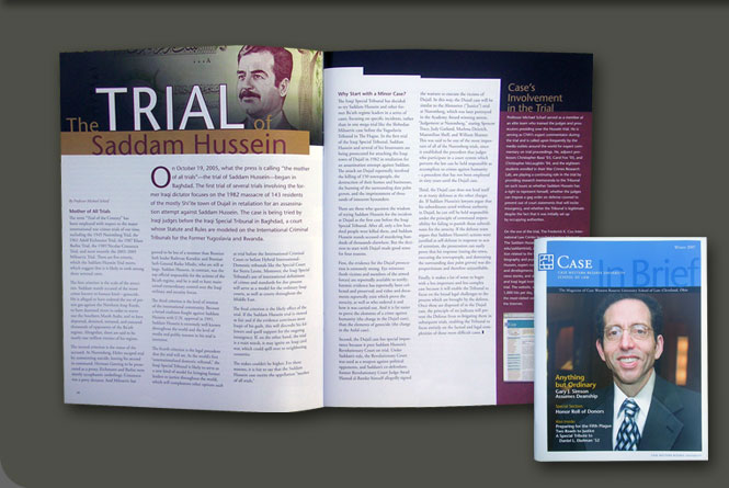 InBrief magzine for the Case Western Reserve University School of Law