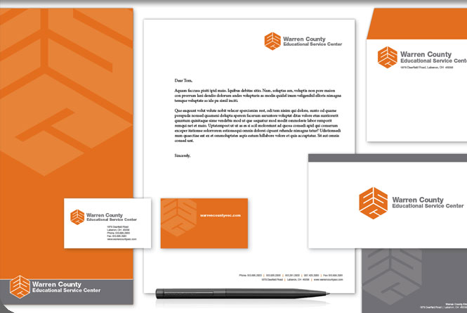 Corporate identity and stationery system for Warren County ESC.